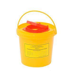 Ёмкость-контейнер для сбора игл 1,0 л.