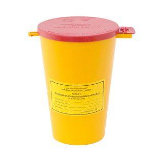 Ёмкость-контейнер для сбора игл c креплением к столу 1,5 л.