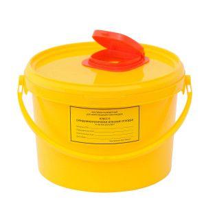 Ёмкость-контейнер для сбора игл 3,0 л.