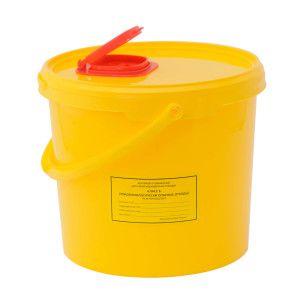 Ёмкость-контейнер для сбора игл 6,0 л.